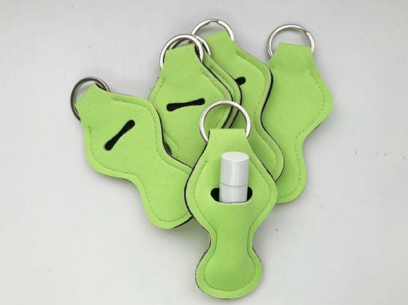Green Chapstick Holders Chapstick Keychain Personalized image 0