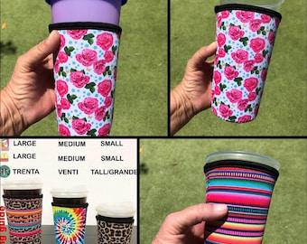 Iced Coffee Sleeve, Loaded Tea Sleeve, Drink Sleeve, Tumbler Sleeve