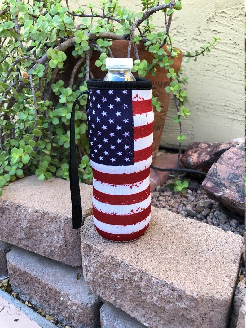 American Flag Water Bottle Holder Flag Water Bottle Holder image 0