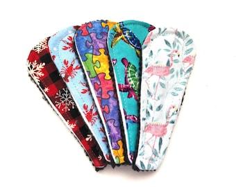 Wingless Thong Cloth Panty Liner, Thong Panty Liner, Reusable Thong Panty Liner, Set of 5, Zero Waste