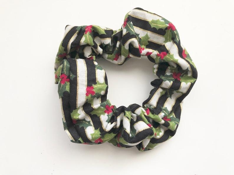 Christmas Scrunchie Christmas Hair Tie Hair Elastic Black image 0