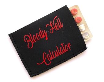 Adult Humor Black Birth Control Pill Case, Birth Control Pill Sleeve, Birth Control Pill Holder, Funny Pill Case