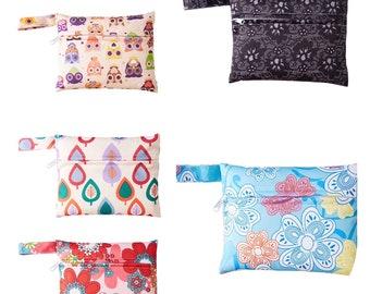 Small Wet Bag, Wet Bag With Zipper, Cloth Diaper Bag, Wet Bag for Cloth Pads, Small Waterproof Bag, Menstrual Pad Wrapper