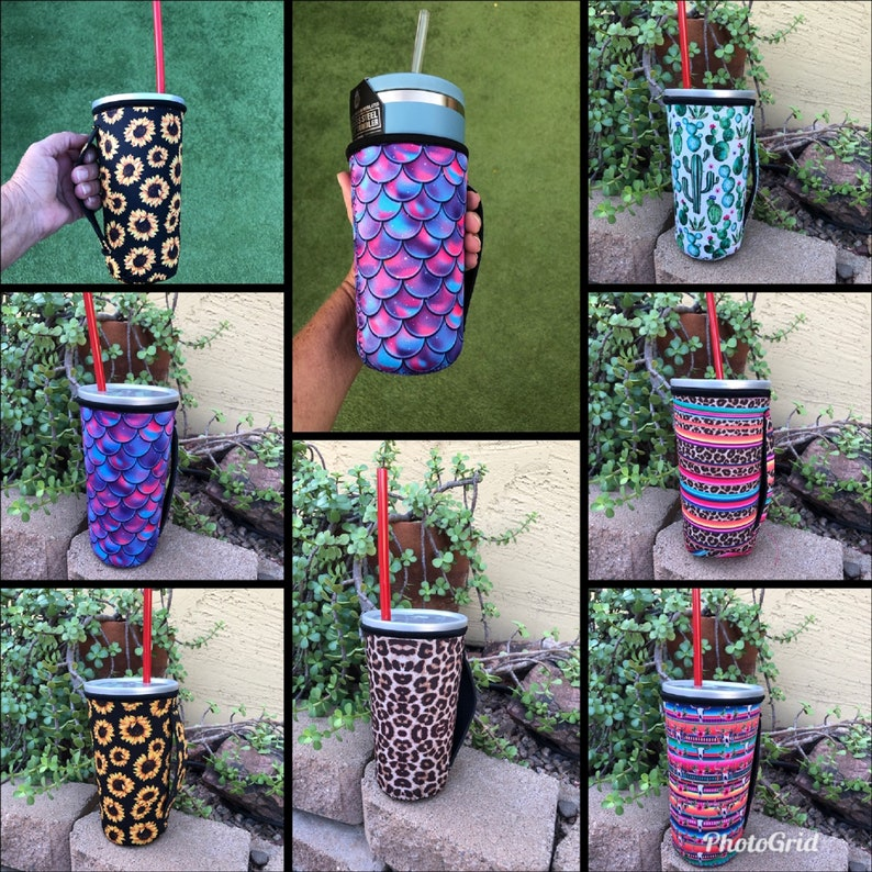 Iced Coffee Sleeve Tumbler Handler Iced Coffee Handler image 0