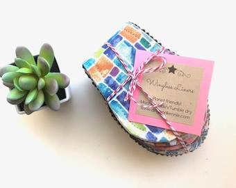 """Wingless Cloth Panty Liners Mystery Pack 10"""",  Zero Waste Panty Liners, Reusable Panty Liners, Reusable Cloth Pads, Plus Size Panty Liners"""