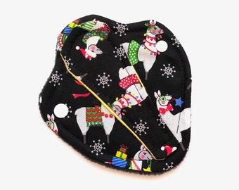 "Christmas Thong Liner, Reusable Thong Liner, Thong Panty Liner, Reusable Panty Liner, Washable Panty Liner, 6"" Panty Liner"