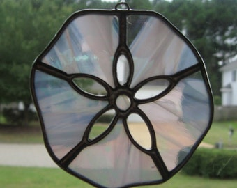 Stained Glass Sand dollar sun catcher - x small