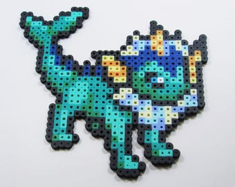 Vaporeon Perler Bead Art // Pokemon// Eevee Evolutions // Perler Wall Art  // Customizable