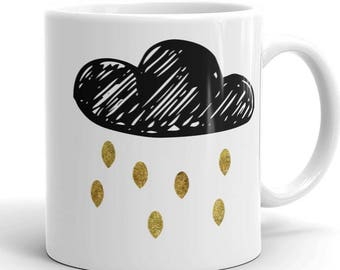Rain Drops are Golden / Rain Lover / Cute Mug