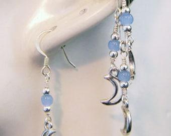 ear cuff,ear cuffs online,ear cuff earrings,ear cuff jewelry,ear wraps and cuffs,ear cuffs uk,moon,lunar,pale,earcuff and earring set