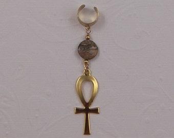 ankh, ear cuff, ear wrap, cuff earrings, earrings for men, earrings for sensitive ears, mens earrings, earrings for girls, earring jackets