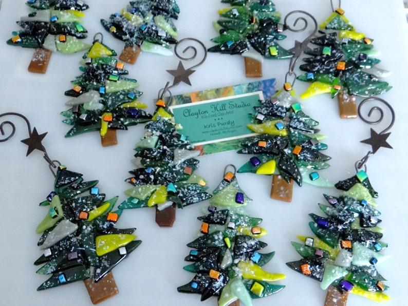 Christmas Tree Ornament Fused Glass