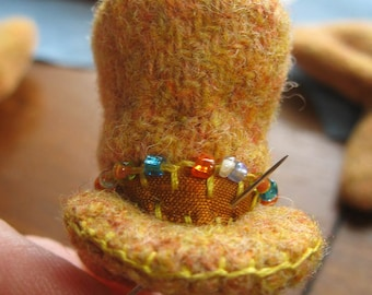 INSTANT DOWNLOAD Pattern H and Instructions for Doters Style Miniature Dandy Top Hat