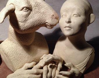 Pre-Order: White Sheep & Alice in Wonderland Art Doll Kit 2018, Version 1