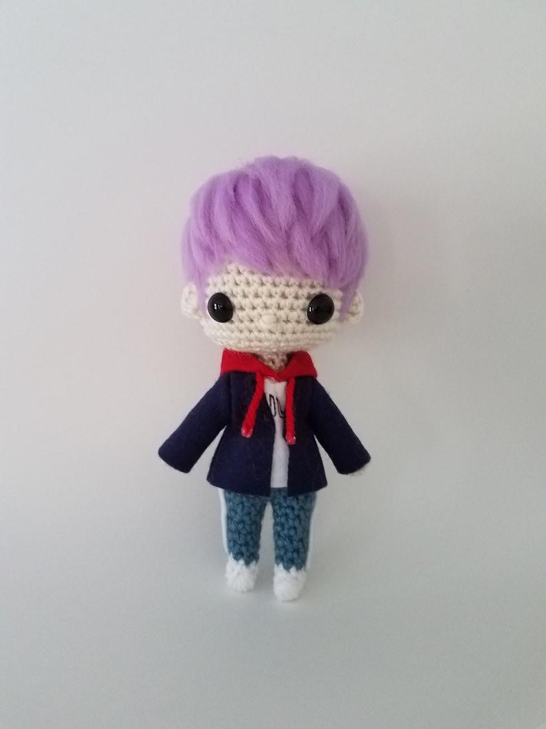Spring Day RM Kim Namjoon You Never Walk Alone BTS Bangtan Boys Crochet  Kpop Doll Amigurumi Handmade