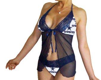 Plus size dallas cowboys lingerie