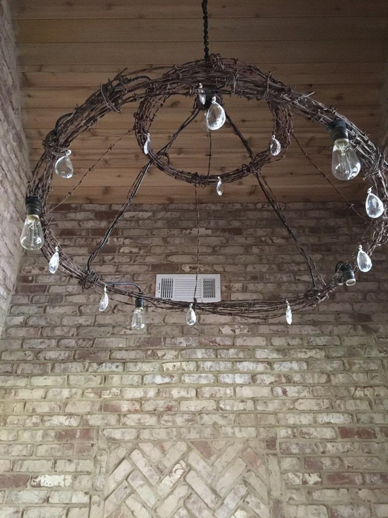 Admirable Barbed Wire Chandelier Light Fixture Etsy Wiring Database Liteviha4X4Andersnl