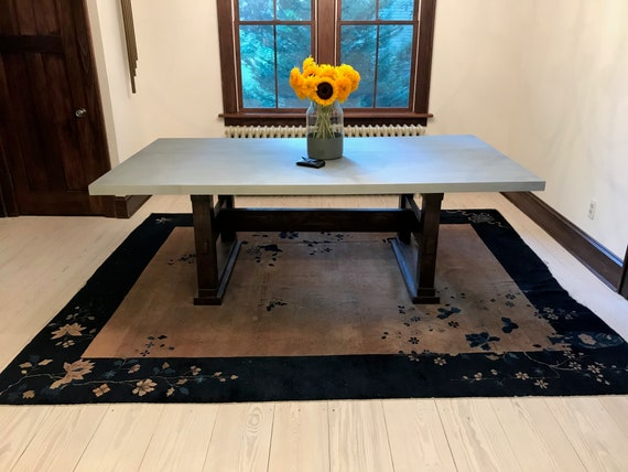 Dining Room Table With Zinc Top 2