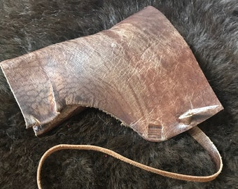 LEATHER TOBACCO POUCH, Gorgeous Italian Leather, Handsewn, Pipe, Rolling Tobacco, Sunglasses case, Rollup Pouch