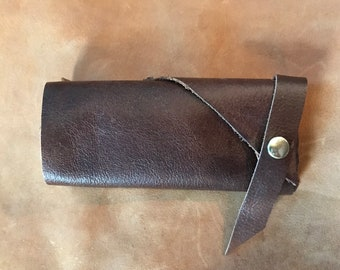Handsewn Fine Italian Leather Protective Case for Mobile Phone, fits IPHONE 5, 6, 7, many others of similar size