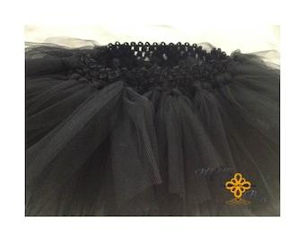 All black infant tutu (9-12 Months)