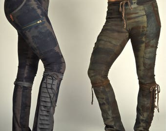 Camo soy/organic cotton leggings (with tassles and side pocket detail)
