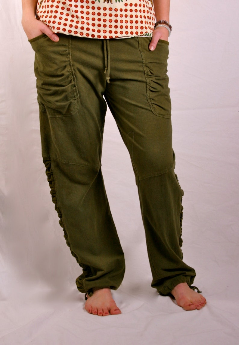 Slouch Pant in hemp/organic cotton/lycra.  Play in them sleep image 0