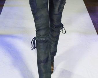 Tie dye side pocket leggings
