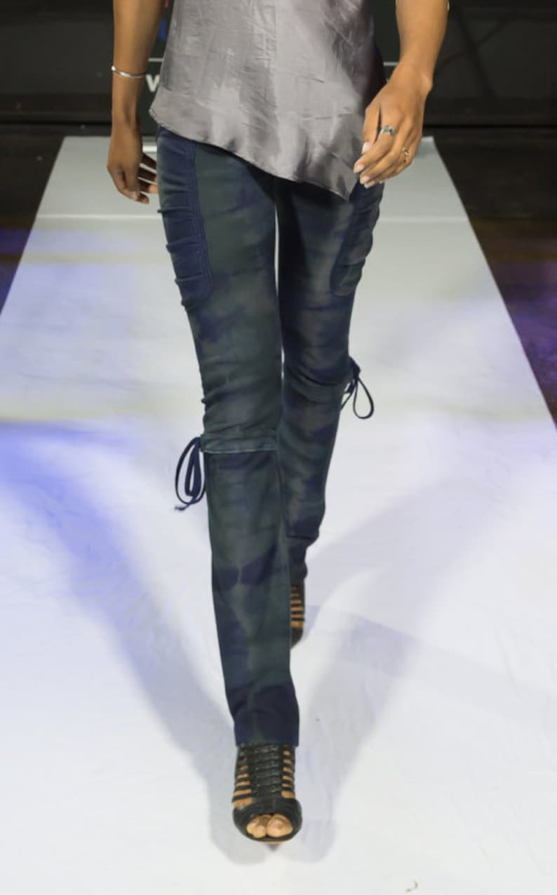 Tie dye side pocket leggings image 0