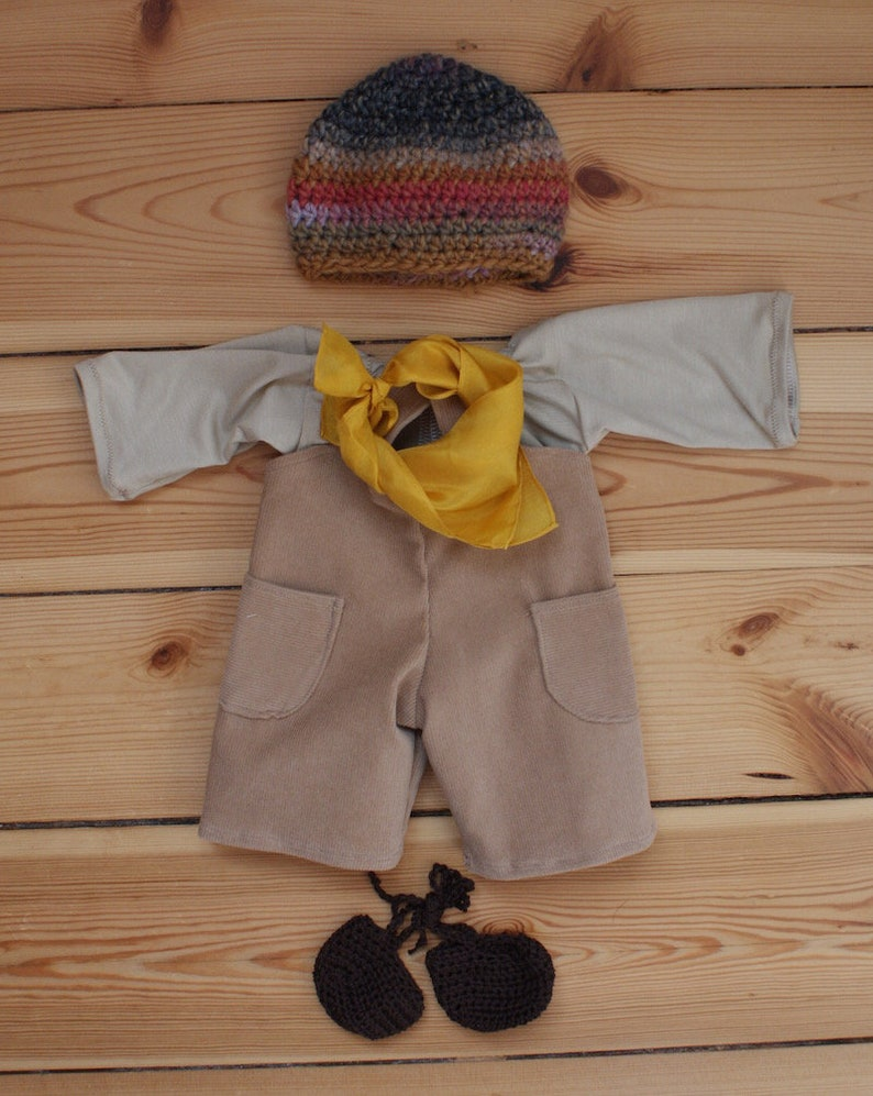 Outfit 40 cm Latzhose Beige image 0