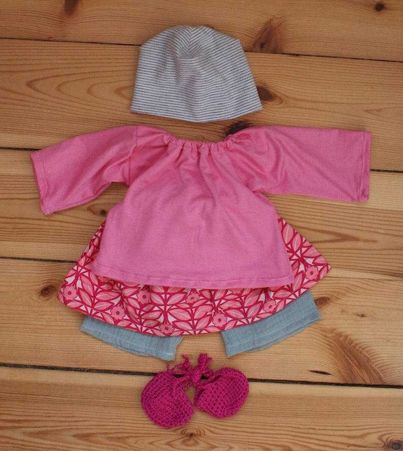 Outfit 40 cm Blumenrock image 0