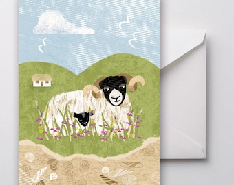 Highlands and Islands Sheep Greetings Card