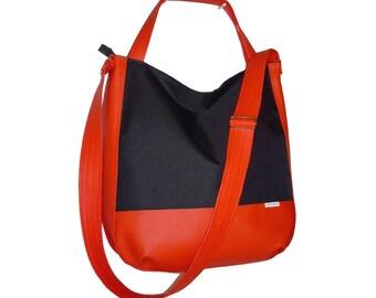 5578, black hobo bag, canvas leather crossbody, crossbody canvas leather, crossbody bag canvas leather, black crossbody bag, black hobo bag
