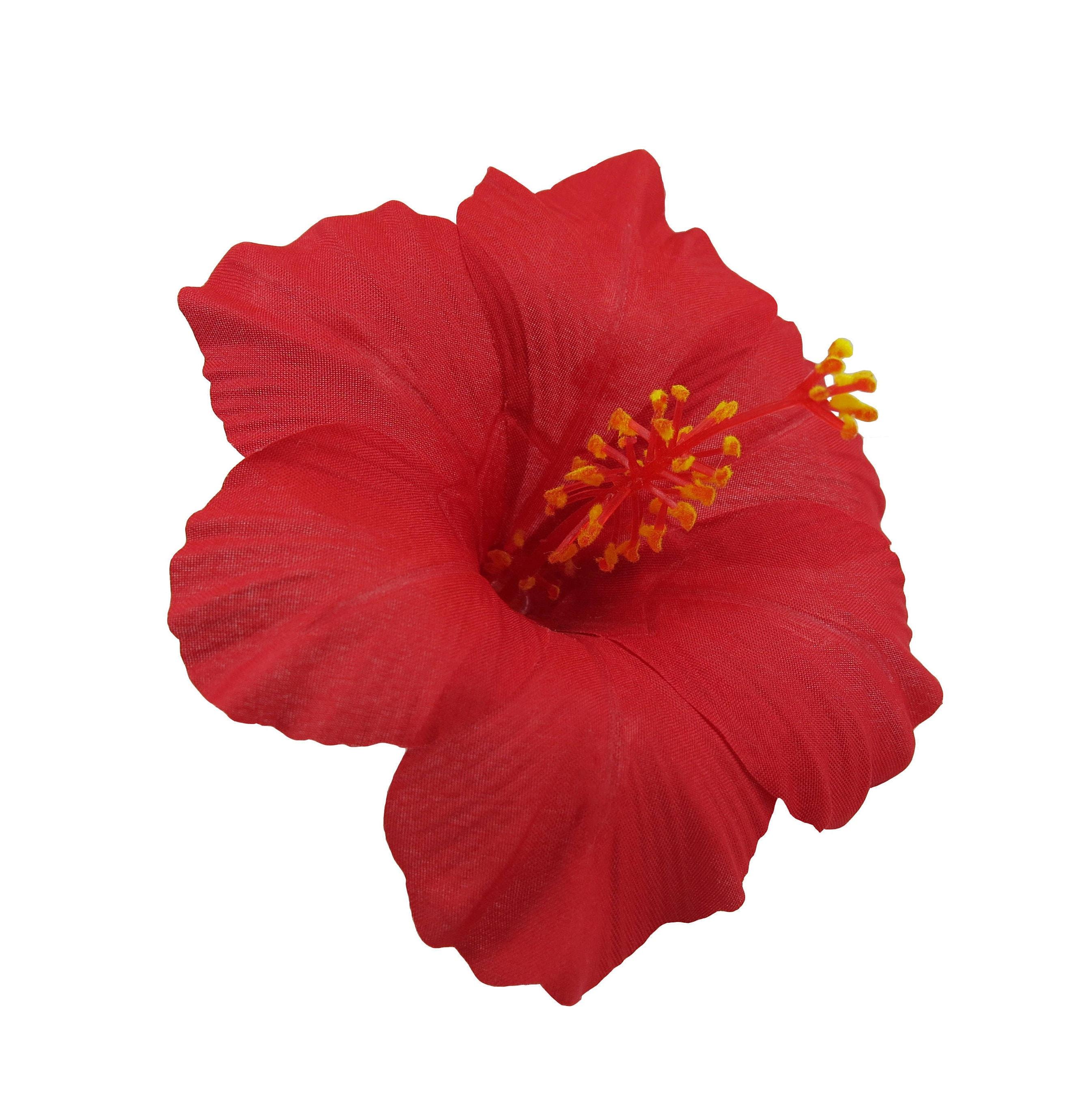 Hawaiian Hibiscus Flower Hair Clip 5 Colors Available Etsy