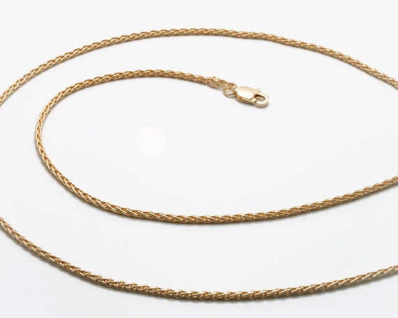 "18"" - 14k gold wheat chain - 1.5mm - 18 inches"