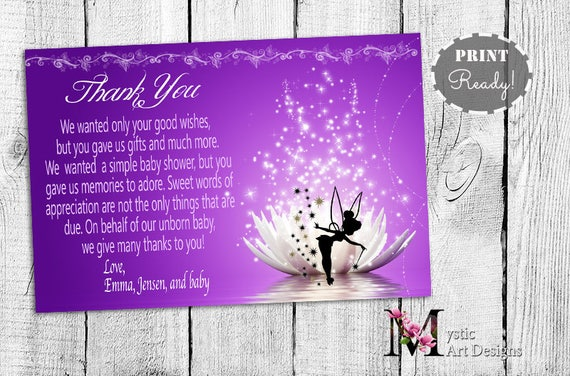 Tinkerbell baby shower thank you cards baby shower etsy image 0 filmwisefo
