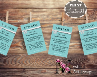 Bring a book instead of a card / bring a book baby shower insert / book request / baby & co baby shower / PDF / INSTANT DOWNLOAD