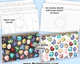 Soul Crystal FFXIV Weekly Planner 2021 2022 2023 Open Year