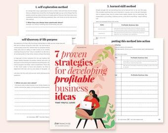 Create Profitable Business Ideas | Business Ideas | Online Business Ideas | Business Planner | Business  Starter Kit | Sell On Etsy