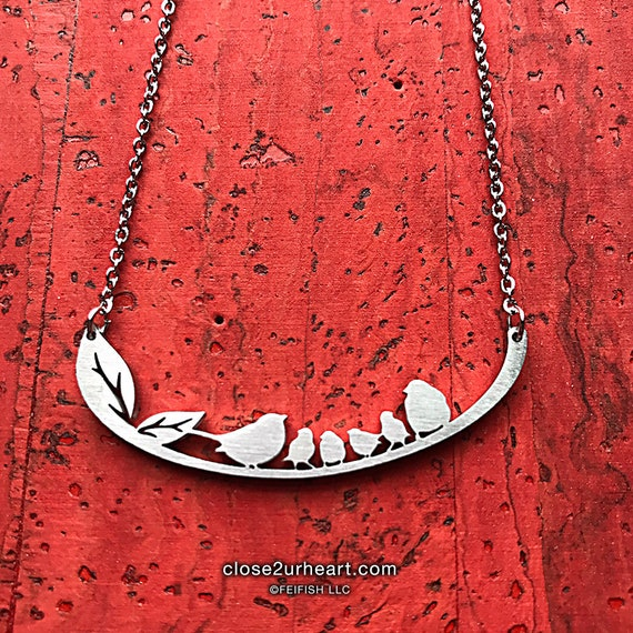 Songbird Family of 6 Necklace