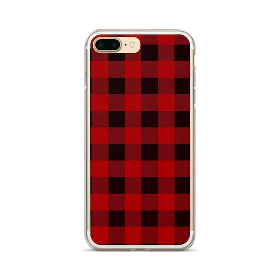 huge selection of 17cd1 e983e Buffalo Plaid iPhone 6s Case Fashionable iPhone Cover Black and Red Buffalo  Check Phone Case iPhone 7 Case Plaid iPhone 7 Plus Case