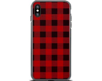 Plaid iPhone 7 Case Red Buffalo Check iPhone 6 Case Buffalo Plaid iPhone Case Buffalo Check iPhone Case Plaid iPhone 7 Plus Case