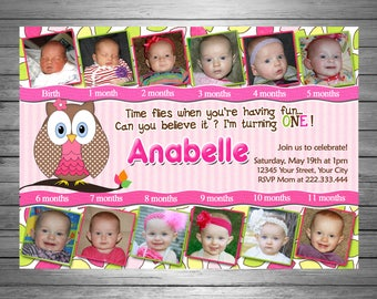 Owl Birthday Invitations First Year 12 Photos You PRINT