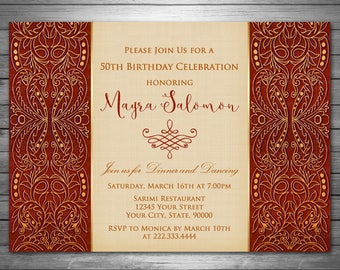 Moroccan invitation Etsy