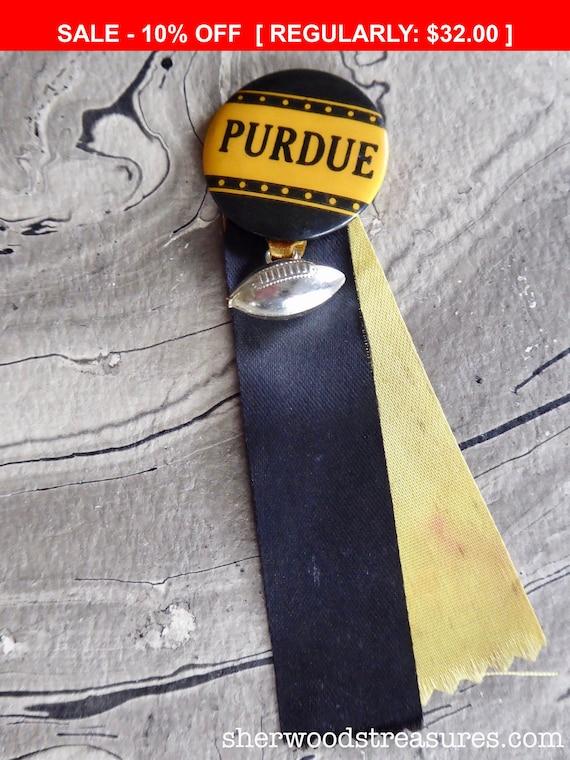 Vintage 1940's-50's Purdue University Pinback Butt