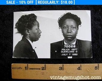 Con Artist Mug Sot Cleveland Ohio Police Department Criminal 1950 Tough Woman