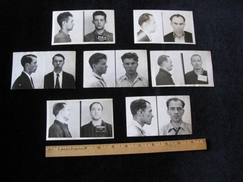 7 1930's - 1940's Harrisburg Reading Pennsylvania Police Criminal MUG SHOTS  Lot