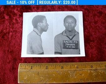 1960 MUG SHOT Sacramento California Police Department Police Criminal Burglar