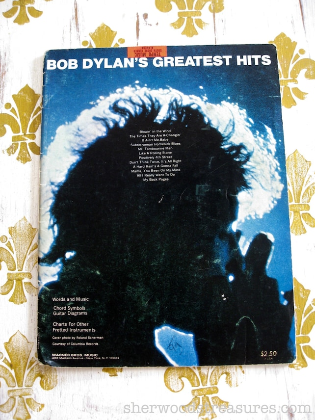 Original Bob Dylan Guitar Songbook Bob Dylans Greatest Etsy