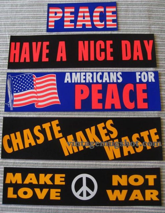 Bumper Stickers From The 1960S